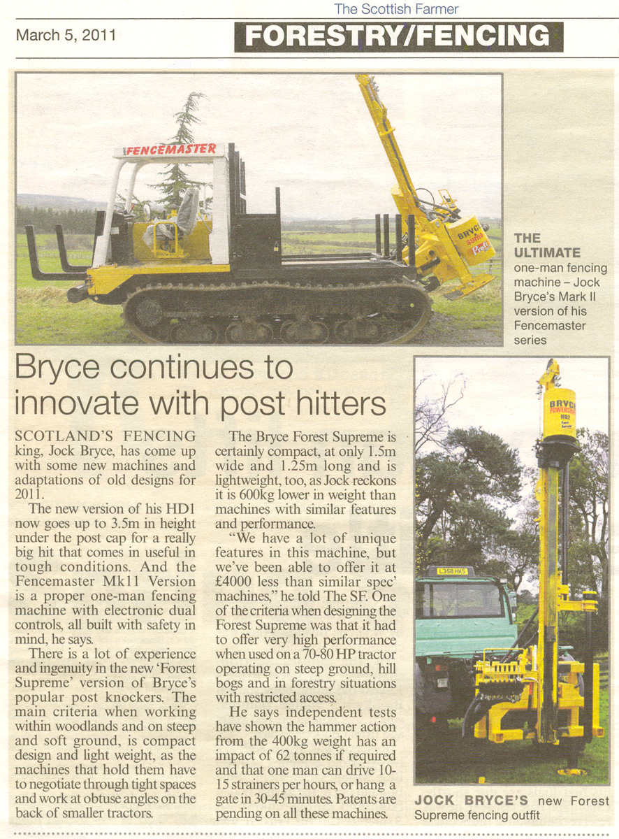 Bryce Continues to Innovate with Post Driver