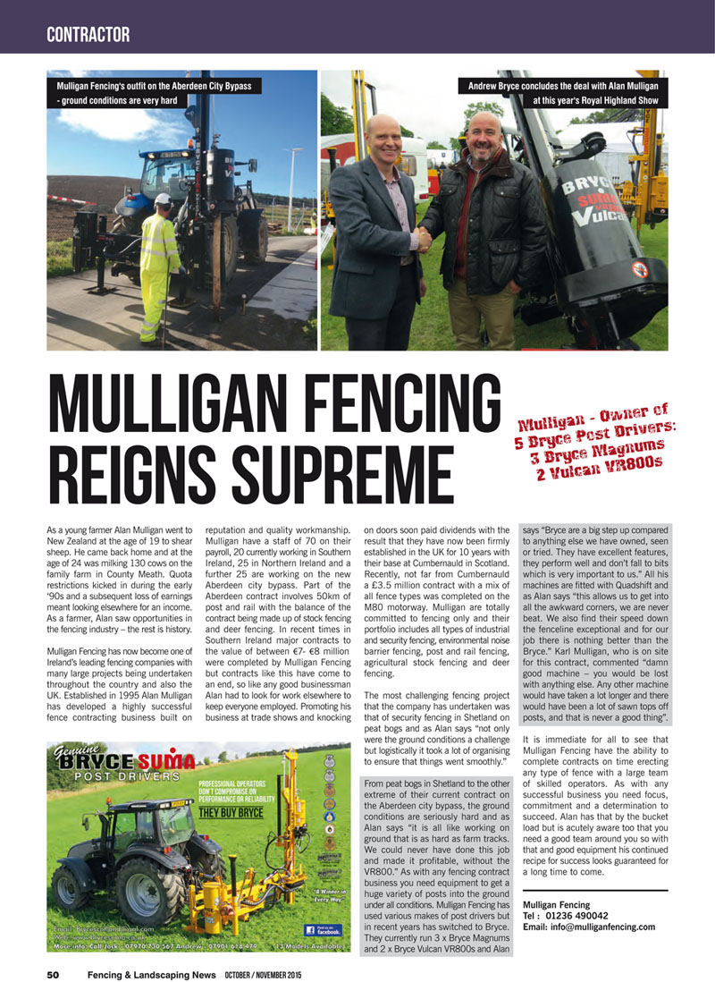 Mulligan Fencing Reigns Supreme