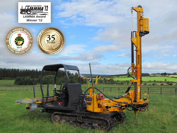 tracked fencing machine featuring HD180